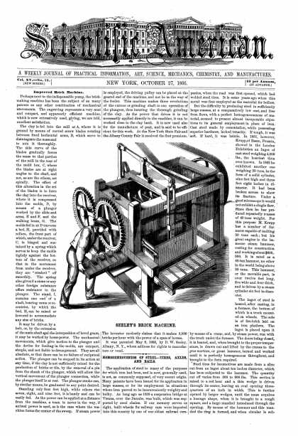 Scientific American - Oct 27, 1866 (vol. 15, #18)