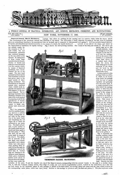 Scientific American - Nov 17, 1866 (vol. 15, #21)