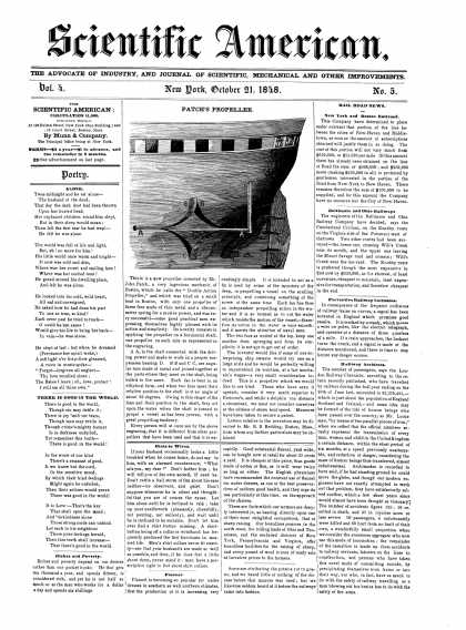 Scientific American - October 21, 1848 (vol. 4, #5)