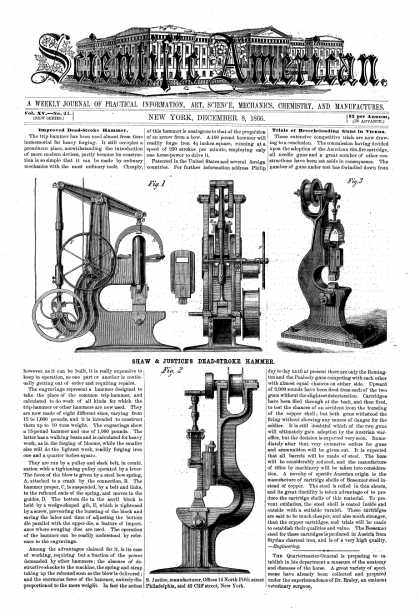 Scientific American - Dec 8, 1866 (vol. 15, #24)
