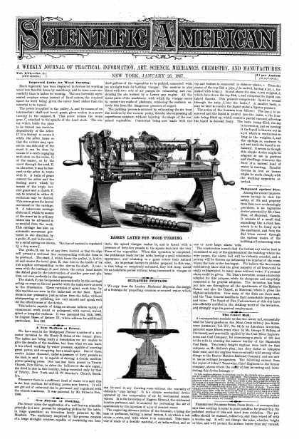 Scientific American - Jan 26, 1867 (vol. 16, #4)