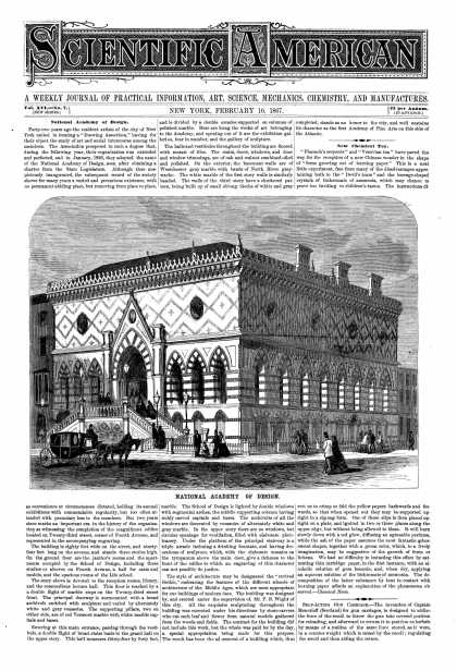 Scientific American - Feb 16, 1867 (vol. 16, #7)