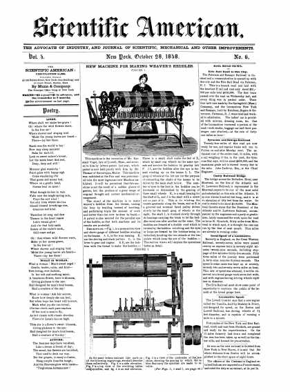 Scientific American - October 28, 1848 (vol. 4, #6)
