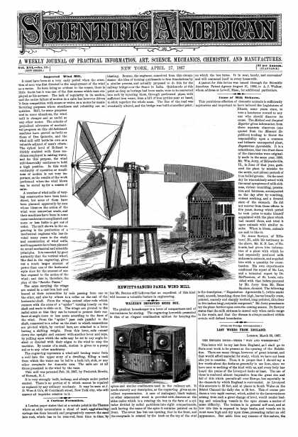 Scientific American - Apr 27, 1867 (vol. 16, #17)