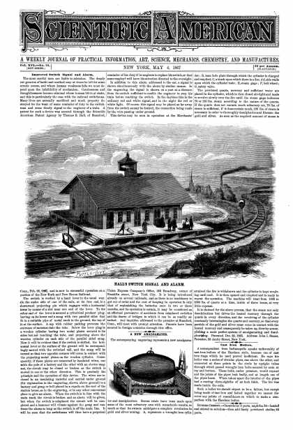 Scientific American - May 4, 1867 (vol. 16, #18)