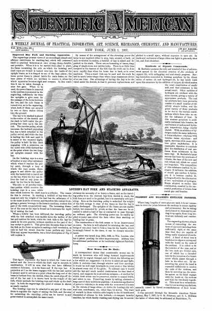 Scientific American - June 1, 1867 (vol. 16, #22)