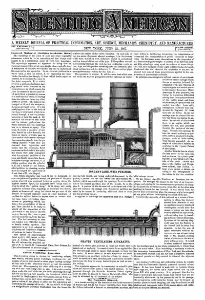 Scientific American - June 22, 1867 (vol. 16, #25)