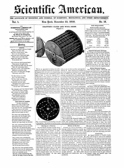 Scientific American - November 25, 1848 (vol. 4, #10)