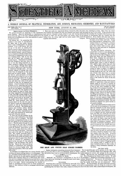 Scientific American - Aug 26, 1868 (vol. 19, #9)
