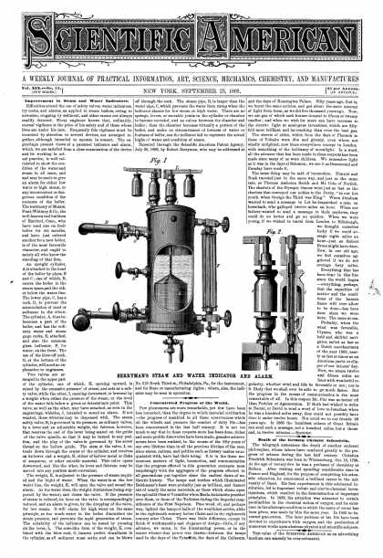 Scientific American - Sept 23, 1868 (vol. 19, #13)