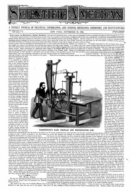 Scientific American - Sept 30, 1868 (vol. 19, #14)