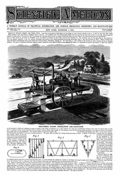 Scientific American - Nov 4, 1868 (vol. 19, #19)
