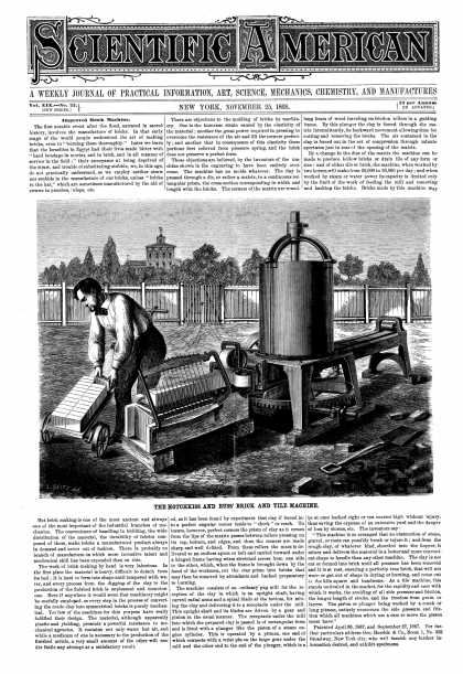 Scientific American - Nov 25, 1868 (vol. 19, #22)