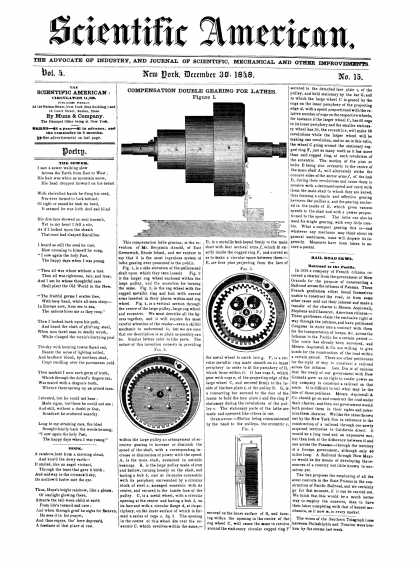 Scientific American - December 30, 1848 (vol. 4, #15)