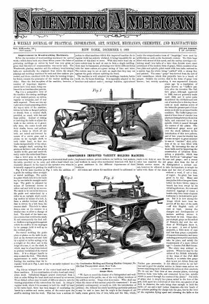 Scientific American - Dec 9, 1868 (vol. 19, #24)