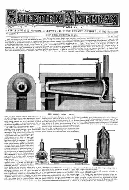 Scientific American - Feb 13, 1869 (vol. 20, #7)