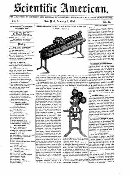 Scientific American - January 6, 1849 (vol. 4, #16)
