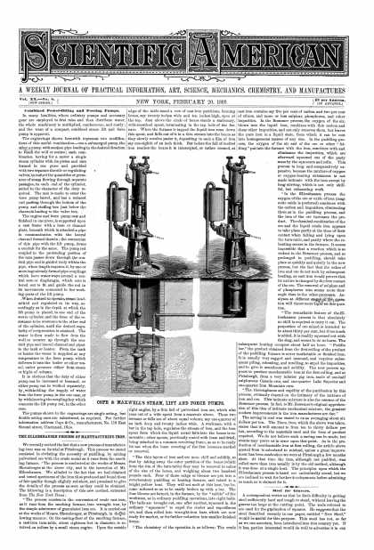 Scientific American - Feb 20, 1869 (vol. 20, #8)