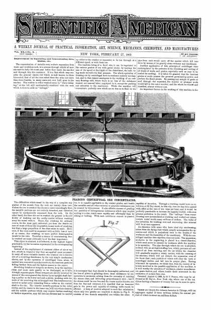 Scientific American - Feb 27, 1869 (vol. 20, #9)