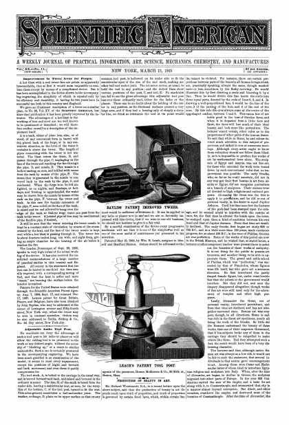 Scientific American - Mar 13, 1869 (vol. 20, #11)