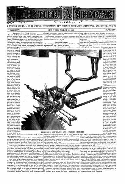 Scientific American - Mar 20, 1869 (vol. 20, #12)