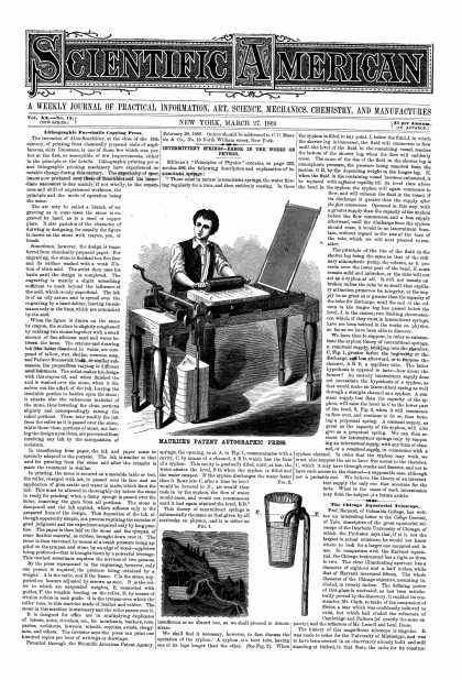 Scientific American - Mar 27, 1869 (vol. 20, #13)