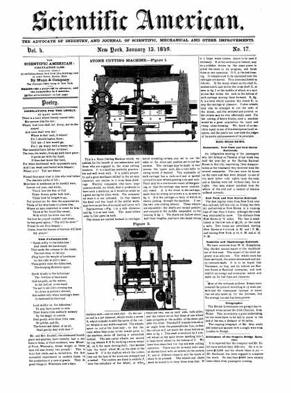 Scientific American - January 13, 1849 (vol. 4, #17)