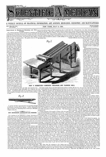 Scientific American - May 15, 1869 (vol. 20, #20)