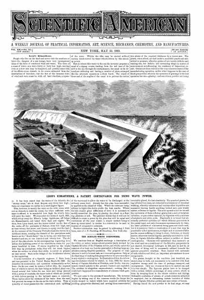 Scientific American - May 22, 1869 (vol. 20, #21)