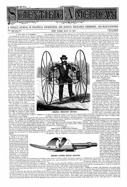 Scientific American - May 29, 1869 (vol. 20, #22)