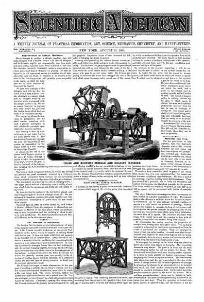 Scientific American - Aug 28, 1869 (vol. 21, #9)