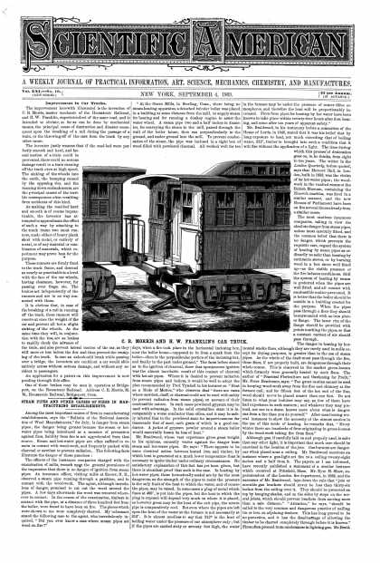Scientific American - Sept 4, 1869 (vol. 21, #10)