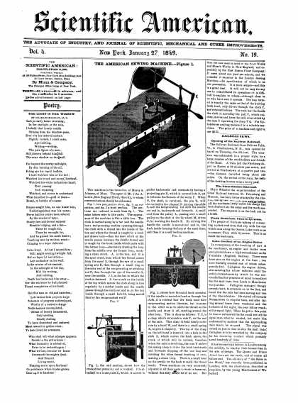 Scientific American - January 27, 1849 (vol. 4, #19)