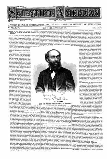 Scientific American - Oct 16, 1869 (vol. 21, #16)