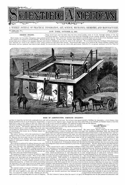 Scientific American - Oct 23, 1869 (vol. 21, #17)