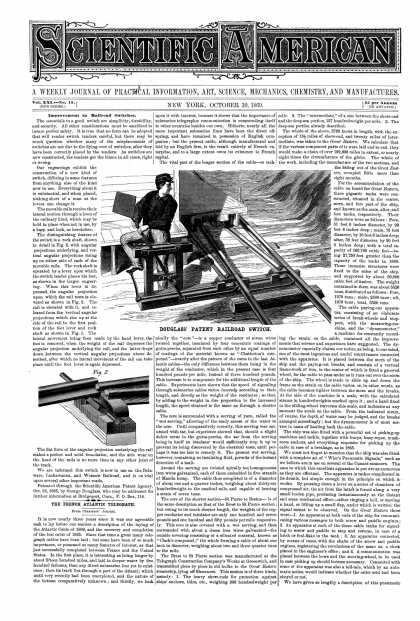 Scientific American - Oct 30, 1869 (vol. 21, #18)