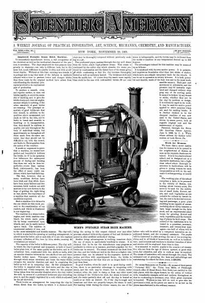 Scientific American - Nov 20, 1869 (vol. 21, #21)