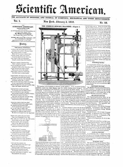 Scientific American - February 3, 1849 (vol. 4, #20)