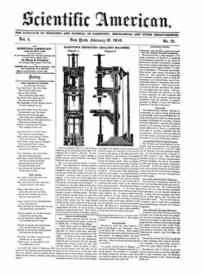 Scientific American - February 10, 1849 (vol. 4, #21)