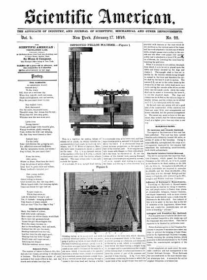 Scientific American - February 17, 1849 (vol. 4, #22)