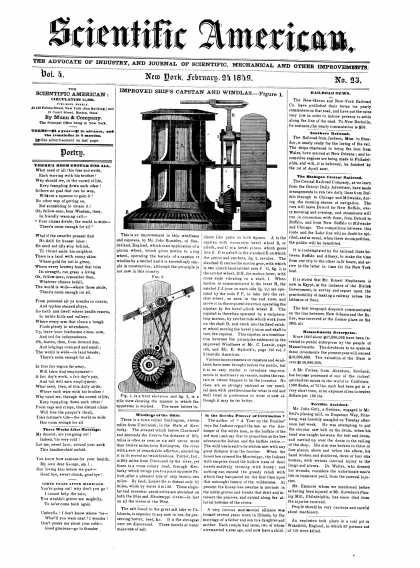 Scientific American - February 24, 1849 (vol. 4, #23)