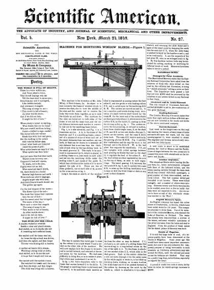 Scientific American - March 24, 1849 (vol. 4, #27)
