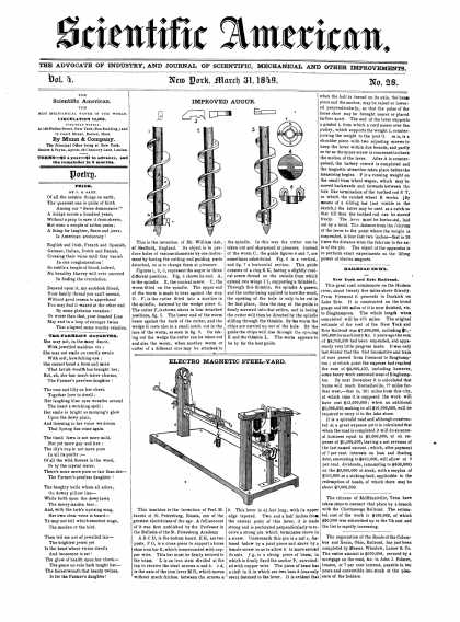 Scientific American - March 31, 1849 (vol. 4, #28)
