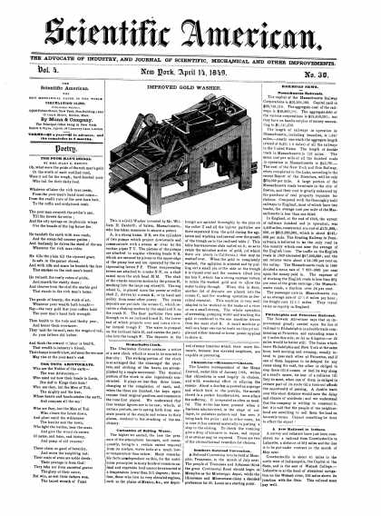 Scientific American - April 14, 1849 (vol. 4, #30)