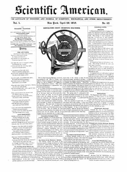 Scientific American - April 28, 1849 (vol. 4, #32)