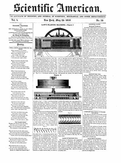 Scientific American - May 26, 1849 (vol. 4, #36)