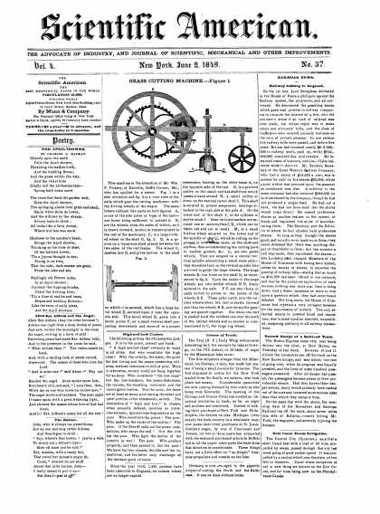 Scientific American - June 2, 1849 (vol. 4, #37)
