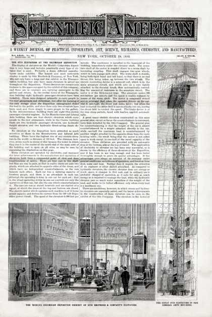 Scientific American - 1893-10-28