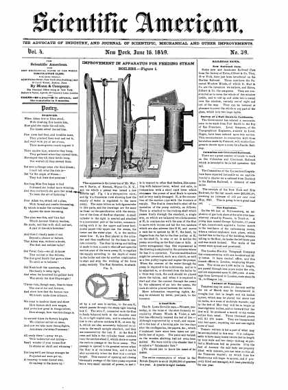 Scientific American - June 16, 1849 (vol. 4, #39)