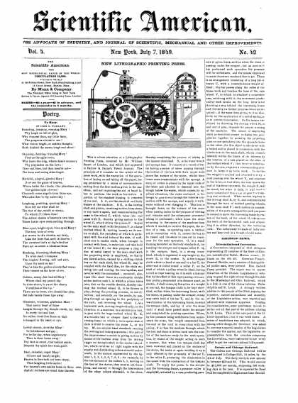 Scientific American - July 7, 1849 (vol. 4, #42)